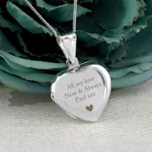 Personalised Sterling Silver Heart Message Locket P0102V13